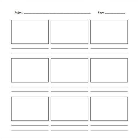 Storyboard Template Pdf The Best Template Ideas Microsoft Word Storyboard Template