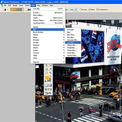 lens blur tilt shift photography photoshop tutorial miniature