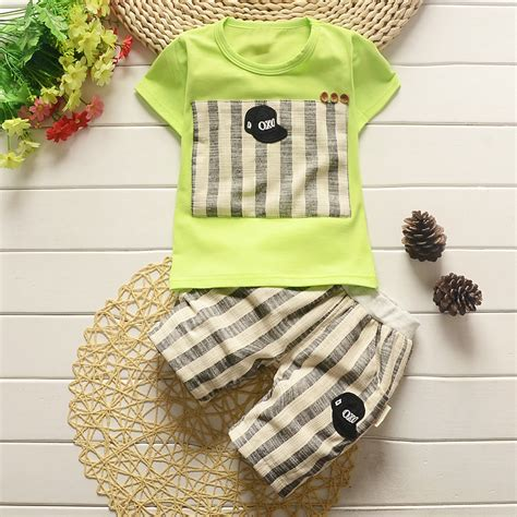 C788 Kid Cotton Fashion Set bibicola baby boys summer clothing 2017 clothing set cotton children clothes suit for boy