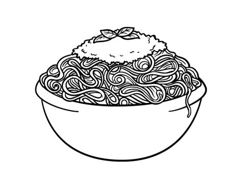 how to color pasta pasta coloring pages spaghetti coloring page coloringcrew