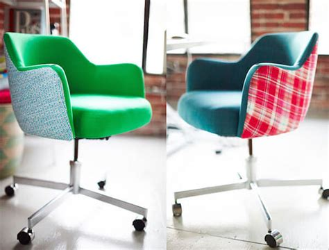 Diy Office Chair by Reupholstered Rolling Office Chairs Are Really Cherry