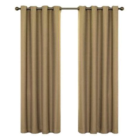 home depot curtain panels eclipse wyndham blackout latte curtain panel 84 in