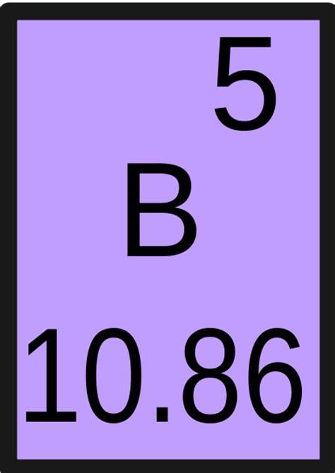 Boron Periodic Table by File Boron Svg