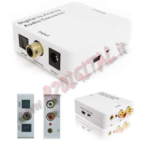 ingresso ottico digitale convertitore adattatore hdv 2mb audio da digitale ad