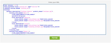 format xml xml formatter for enhanced content visibility site24x7