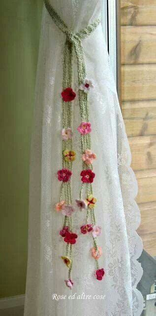 crochet curtain ties 1000 images about crochet tiebacks on pinterest