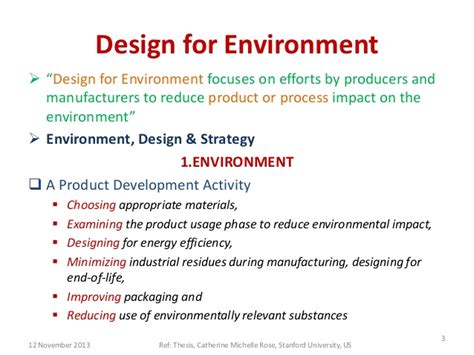 purpose of environmental design design for environment end life of the product