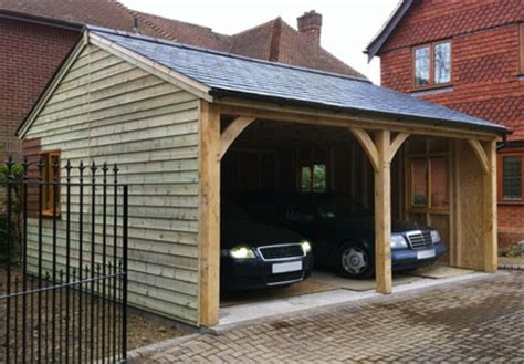 Timber Car Port by Bespoke Oak Carports Built To Last Custom Built Garden