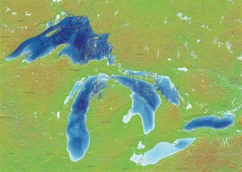 the great lakes map relief map of the five great lakes the dynamic great lakes