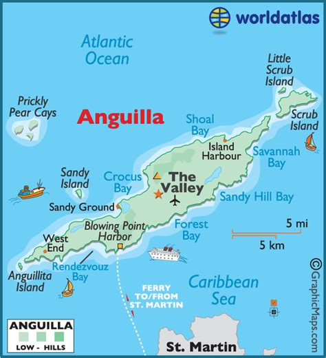 anguilla map world atlas large color map of anguilla