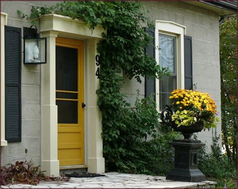 mustard front door mustard door and coordinating chrysanthemums via not