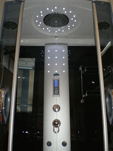 vasca box doccia multifunzione cabina idromassaggio con vasca bagno turco a scelta e led vi