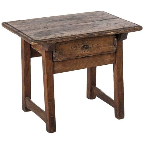 19th Century Country Style Pine 19th Century Rustic Primitive Style Pine Side Table