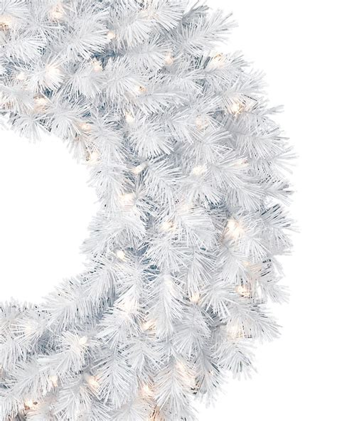 winter white christmas garland wreath treetopia