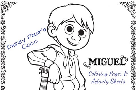 coco coloring book disney pixar coco coloring pages for boys and books printable disney pixar s coco activity pages