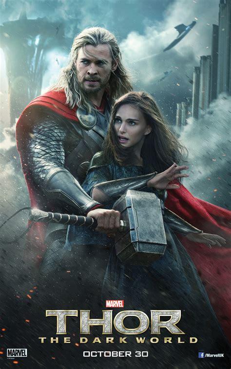 film like thor thor the dark world poster thor and jane foster heyuguys