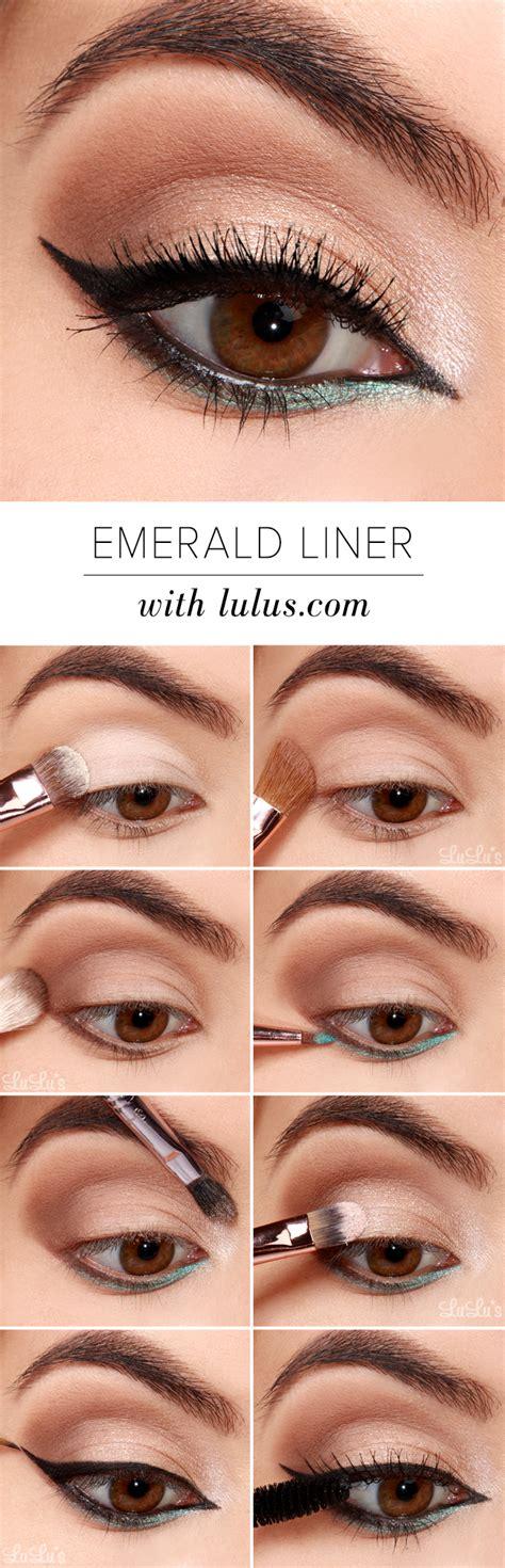 eyeliner tutorial blog lulus how to emerald green eyeliner tutorial lulus com