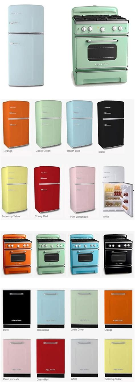 colorful kitchen appliances what s old is new retro kitchens with big chill thrift diving blog