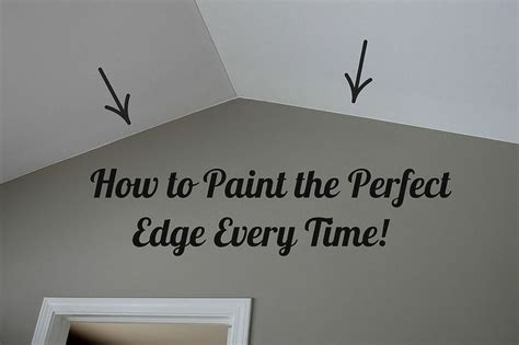 how to paint how to paint the perfect edge without painters tape