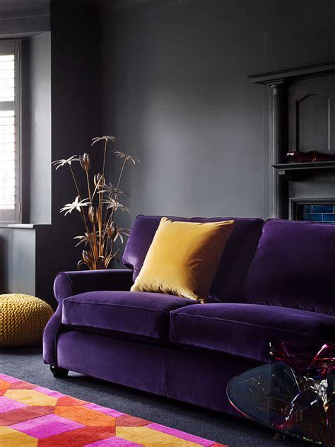 living room with purple sofa 12 royally purple velvet sofas for the living room