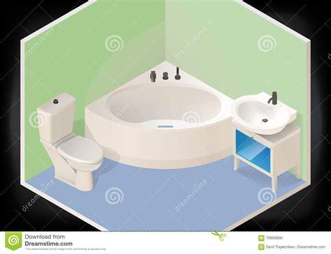 home washroom tub vector illustration