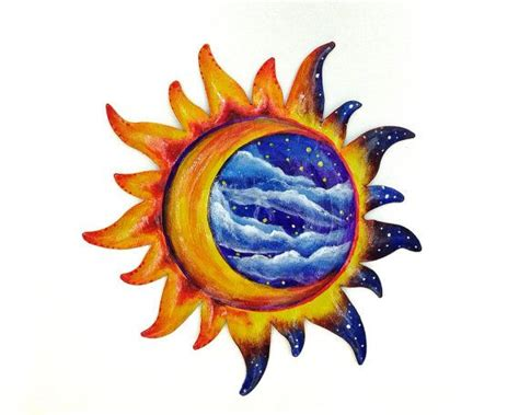 Sun And Moon Decor by Sun And Moon Painted Wall Decoration Patio Decor