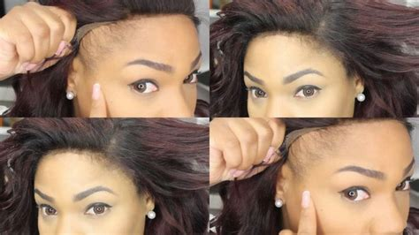 how to weave hair with no edges how to make your lace frontal look natural no edges no