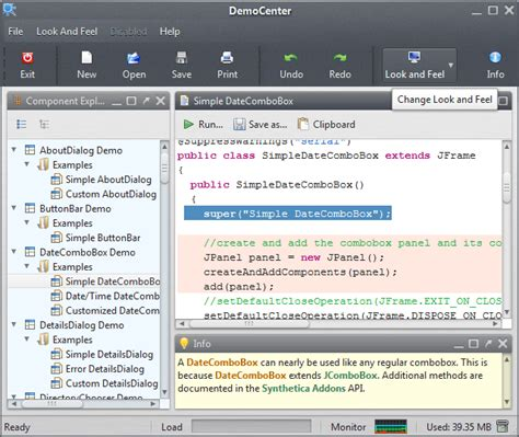 themes for java supported synthetica java look and feel