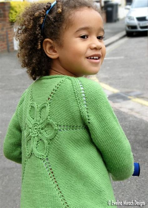 Wst 10259 Flower Knit Cardigan knitting patterns sweaters for