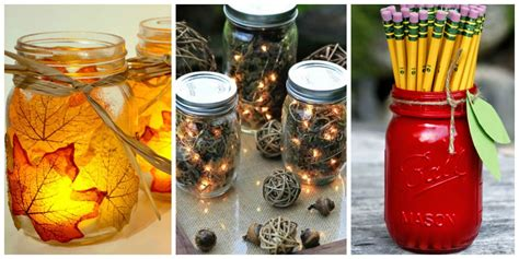 home made fall decorations 30 jar fall crafts autumn diy ideas with jars