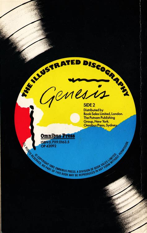 discography genesis the illustrated discography genesis geoff parkyn the