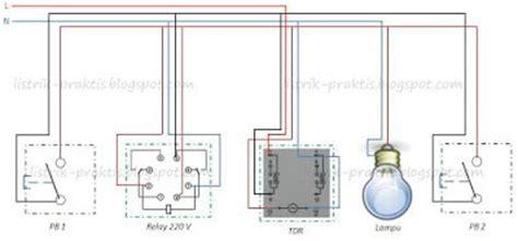 cara membuat saklar listrik staircase dari relay dan timer