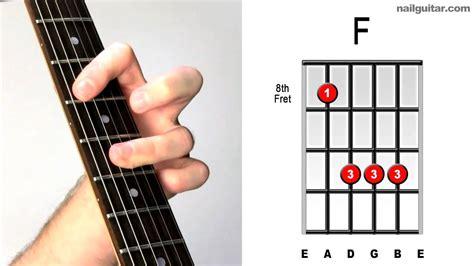tutorial untuk beginner guitar f major fast easy guitar chord tutorial learn bar