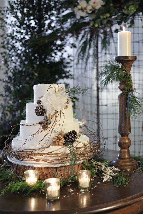 pine cone themed decor winter wedding cakes we love10 savvy chic avenue