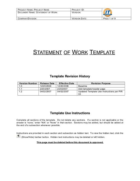 7 statement of work samplereference letters words simple statement