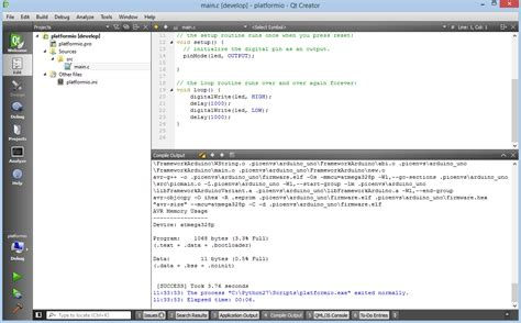 Qt Programming Ide | qt creator platformio 3 5 3a9 documentation