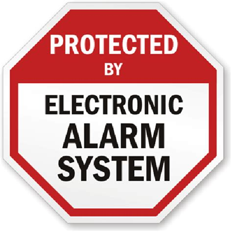 alarm decals and alarm system decals with free shipping
