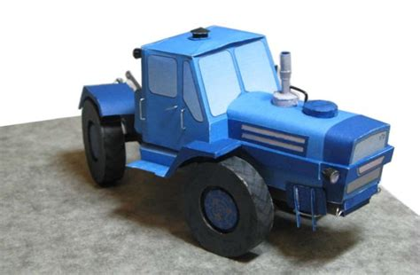 Tractor Origami - t 150k traktor free vehicle paper model