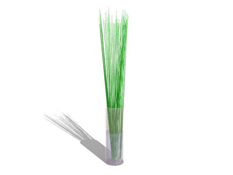 Vase With Sticks by Glass Vase With Sticks 3d Model 3ds Max Files Free