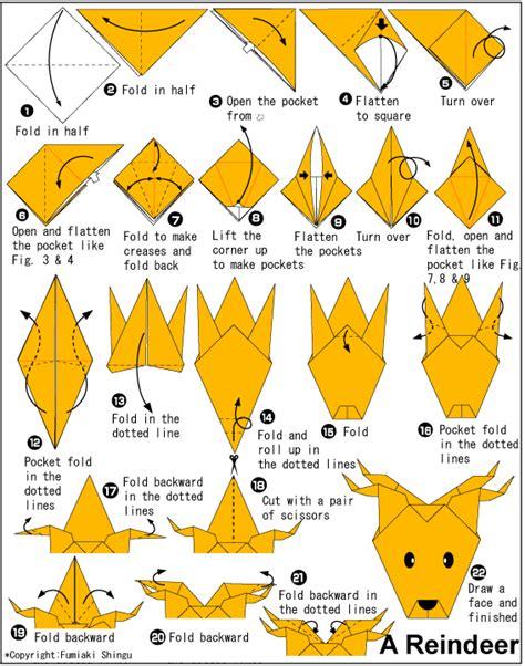 Origami Reindeer - origami reindeer no 235 l 2 renne p 232 re no 235 l
