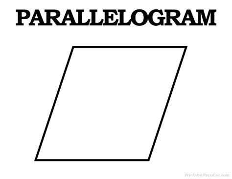printable shapes rhombus printable parrallelogram shape print free parrallelogram