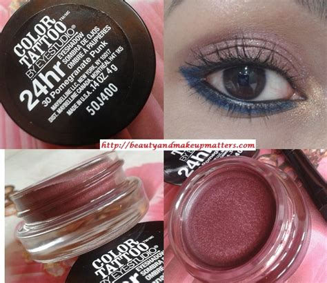 eye tattoo maybelline review maybelline color tattoo 24 hr eye shadow pomegranate punk