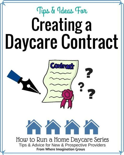 Starting A Small Home Daycare 25 Best Ideas About Daycare Contract On