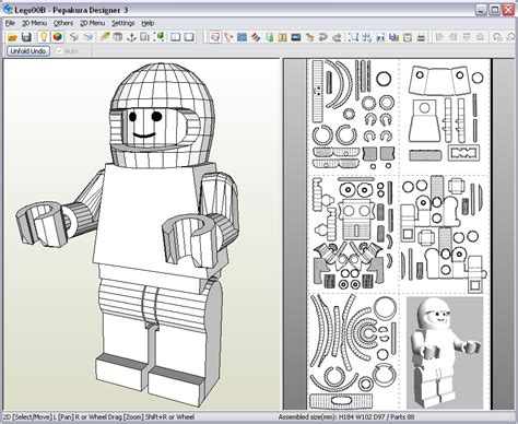 3d model templates lego design paperbotz
