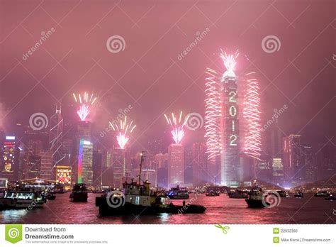 is new year celebrated in hong kong new year celebration in hong kong 2012 editorial image