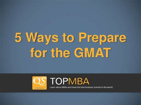 Can Mba Prep Be Written On Taxes by 5 Ways To Prepare For The Gmat