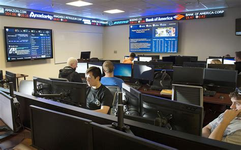 Trading Room by New Trading Room At Offers Glimpse Into Financial