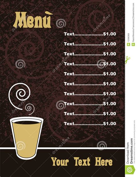 menu template vector royalty free stock images image