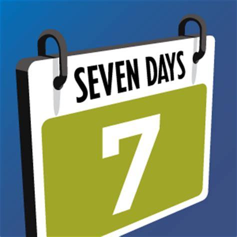 Calendar 7 Days Seven Days Calendar 7dayscalendar