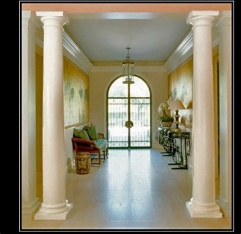 interior home columns plain smooth columns architectural decorative plain